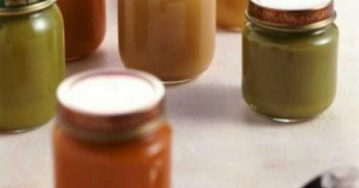 Jars of Organic Baby Food